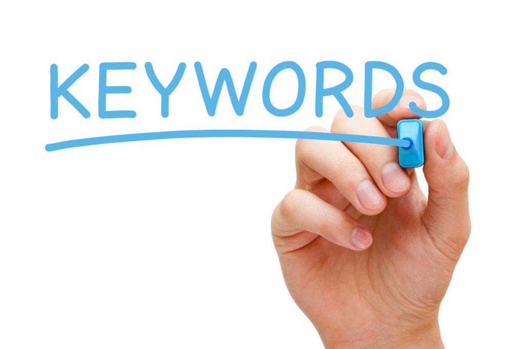 از بهترین کلمات کلیدی مربوط به حوزه فعالیتی خود لیستی تهیه کنید