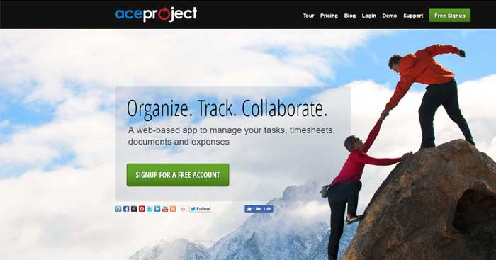 با Ace Project سازماندهی کنید.