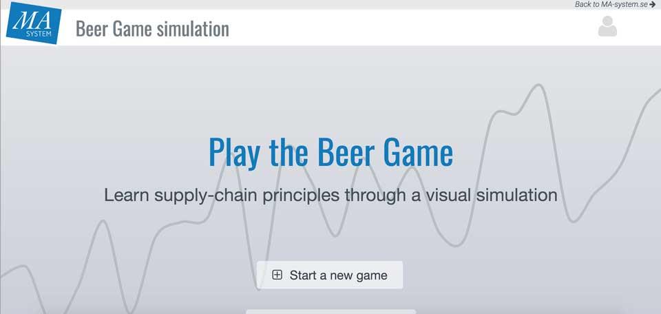 زنجیره تامین در بازی آبجو