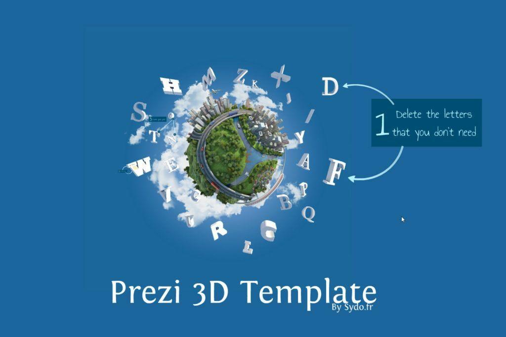 ارائه سه بعدی با نرم افزار پرزی