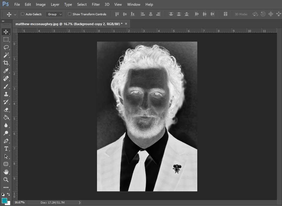 تصویر نهایی بعد از Invert کردن