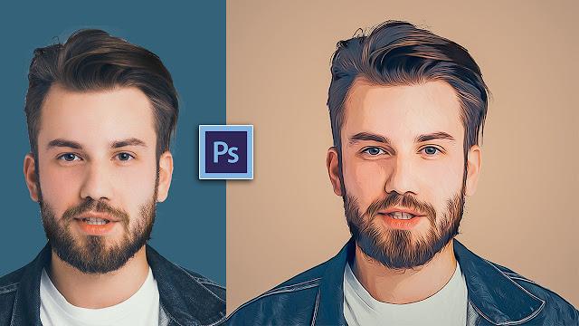 آموزش تبدیل عکس به نقاشی با فتوشاپ
