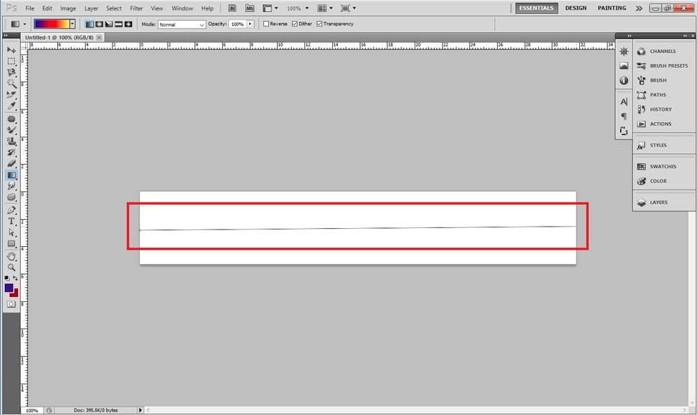 ابزار Gradient tool در طراحی بنر با فتوشاپ