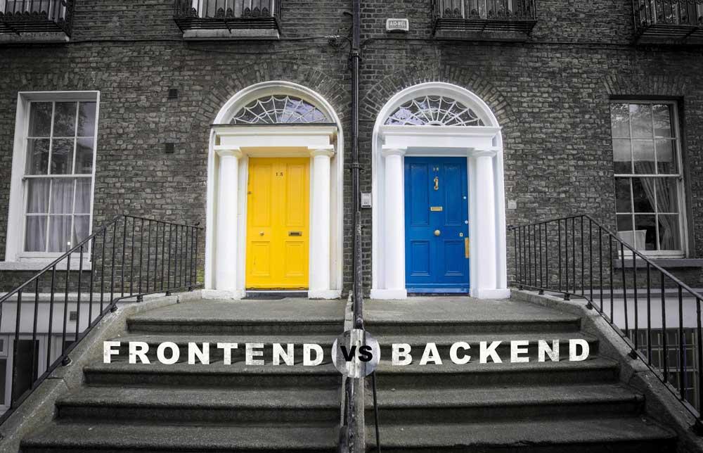 تفاوت frontend و backend در چه مواردی است؟