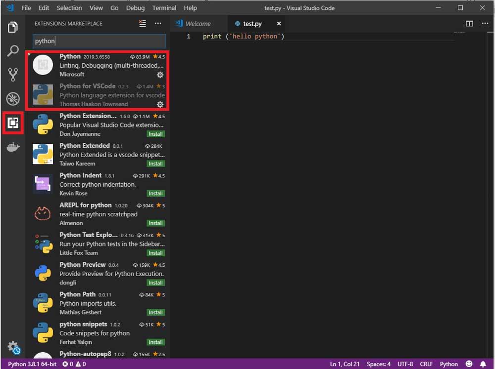کدنویسی در فضای Visual Studio Code