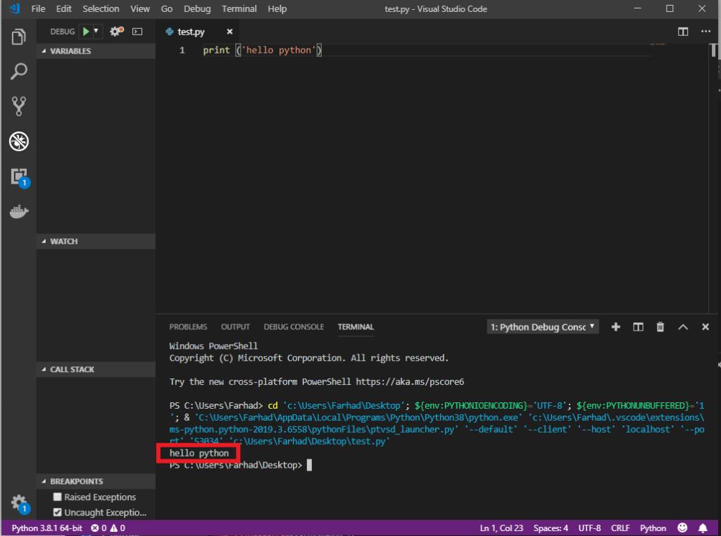 محیط های برنامهنویسی با زبان پایتون