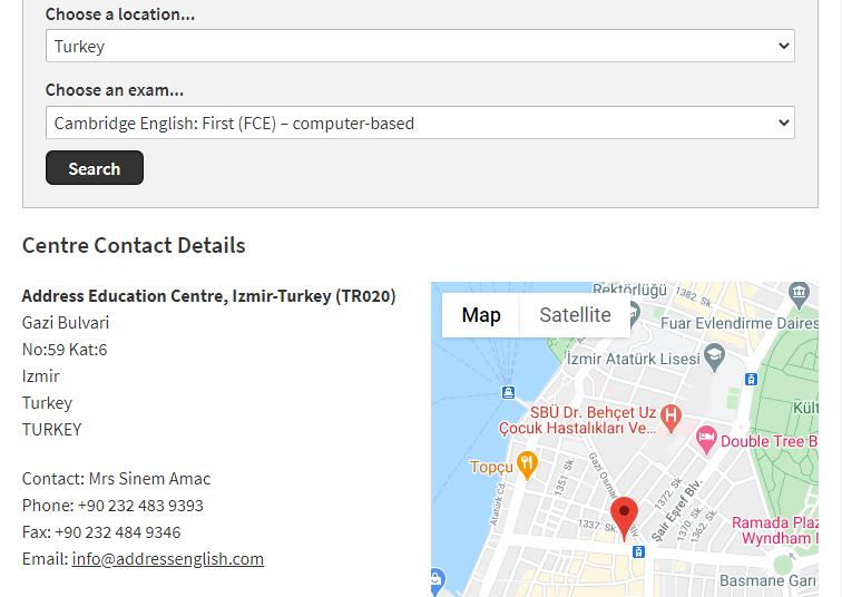 ثبت نام آزمون fce
