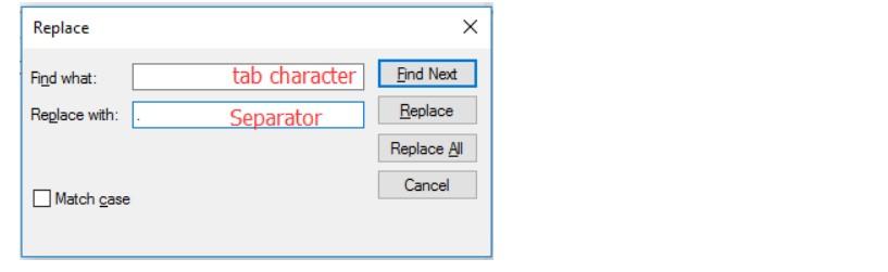 چسباندن دو ستون در اکسل با استفاده از NotePad-2