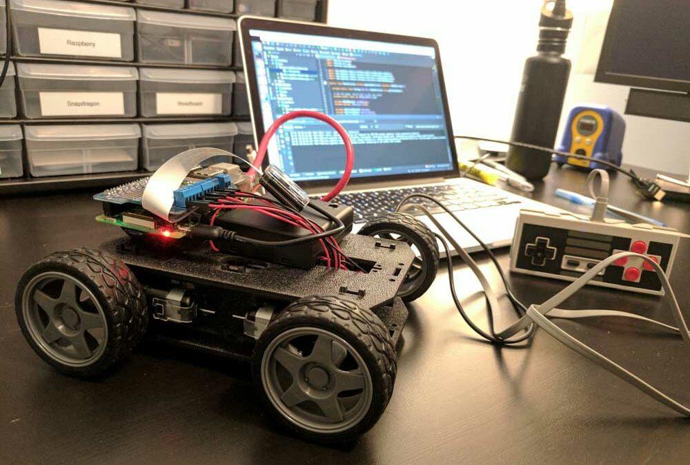 آموزش ساخت ربات با برنامه نویسی رزبری پای
