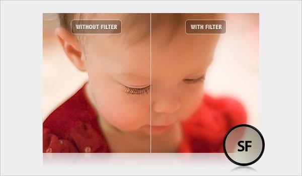 فیلتر ماتکننده ملایم لنز دوربین