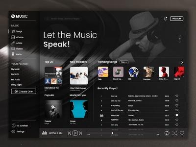 اصول طراحی سایت موسیقی